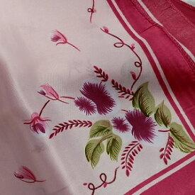 【レディース】【スカーフ】【メール便送料無料】スカーフ  フラワー 花柄 ピンクxピンク 訳あり商品 大特価