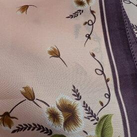 【レディース】【スカーフ】【メール便送料無料】スカーフ  フラワー 花柄 パープル 訳あり商品 大特価