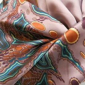 スカーフ 大判 スカーフ柄 メール便送料無料 スカーフ 高級プリント柄 大人の女性に  ウェーブアート柄 パープル 訳あり商品 大特価