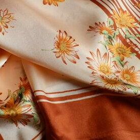 1000円ポッキリ スカーフ  メール便送料無料 スカーフ柄  ストライプ&フラワー柄 ライン柄 花柄 シンプルライン オレンジ 訳あり商品 大特価