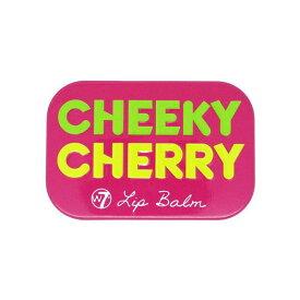 W7 フルーティーリップバームCHEEKY CHERRY チェリーの香り【ダブルセブン、リップバーム、リップクリーム、リップケア、リップ下地、海外コスメ、ロンドンコスメ、キャンディ缶、フルーツ、さくらんぼ、サクランボ、ピンク、pink、ワセリン】