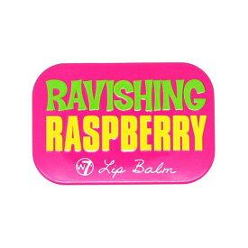 W7 フルーティーリップバームRAVISHING RASBERRY ラズベリーの香り【ダブルセブン、リップバーム、リップクリーム、リップケア、リップ下地、海外コスメ、ロンドンコスメ、キャンディ缶、フルーツ、ピンク、pink、ワセリン】