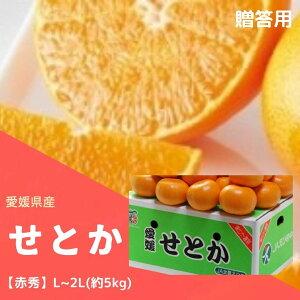 「発送は3/4日から」せとか 「愛媛産」L〜2L赤秀(5kg) 柑橘類の中でも、最高のコクと甘みを誇るプレミアム柑橘「せとか」 ふるさと物産品