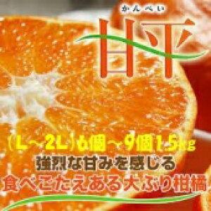 みかん 甘平 【秀品】 L〜2L(6〜9個)1.5kg JAえひめ オリジナル品種
