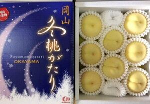 岡山冬桃がたり 白桃 エース 4個〜8個 1kg ふるさと物産品
