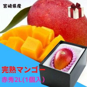 完熟マンゴー 【赤秀】 2L(約350g以上×1個) 「情熱みやざきブランド!」 ふるさと物産品
