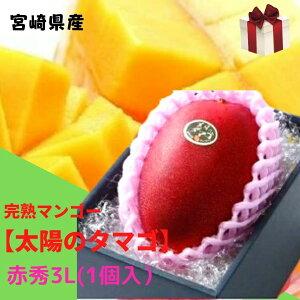 完熟マンゴー【太陽のタマゴ】 赤秀 3L(約450g以上×1個) (糖度15度以上) JA宮崎 ふるさと物産品