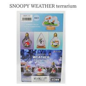 スヌーピー WEATHER Terrarium 6個入BOXセット フィギュア おもちゃコレクション リーメント キャラクター