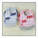 【値下げしました!】アメカジシリーズ★紐付きボタンのプリントTシャツ♪ピンク・ブルー XS・S・M・L・XL ペット服・犬服・トップス アウトレット価格