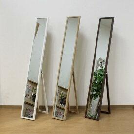 全身鏡 姿見 幅23cm スリム 壁掛けミラー 飛散防止 鏡 ミラー スタンドミラー 全身ミラー 姿見鏡 壁掛け対応 木目調 北欧 ナチュラル スリムミラー 人気