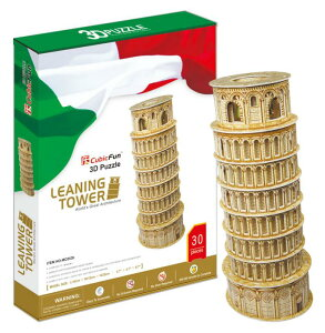 3Dクラフト ピサの斜塔 など他17種類【ピサの斜塔・コロッセウム・ウェストミンスター寺院:納期未定】ノリ、ハサミ、カッター不要の3Dパズル 立体パズル かんたん組立 おもちゃ