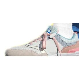 【ネコポス】【大感謝価格】靴ひもクリップ 2足組8個 ホワイト/ブラック