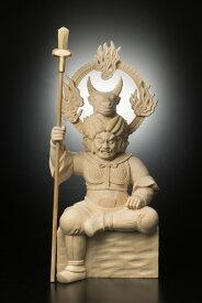 檜彫り 牛頭天王(ゴズテンノウ) 947-2【絶対に返品キャンセル不可品】 仏像 御守り お神輿 家内安全 木彫りの彫刻品 天然木 彫刻作品 置物 神棚