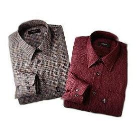 【メーカー直送・大感謝価格 】Pierucci ピエルッチ カシミア入りシャツ2色組 MS-007