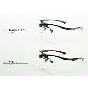 LOOK LOUPE ルックルーペ LL-11 ダークグレイ/ワインメガネタイプルーペ 眼鏡 拡大鏡