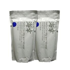 大感謝価格『健気塩「海幸」 500gx2袋』 5940円税別以上送料無料お取り寄せ、返品キャンセル不可品 調味料として、また入浴時のマッサージとしてもご利用いただけます。