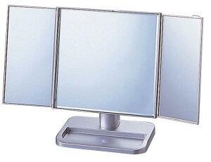【大感謝価格】三面鏡 シルバー S-888-70