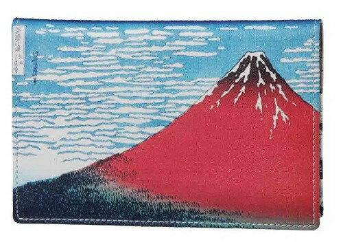 【大感謝価格】北斎の富嶽2景 パスポート入れ K12339