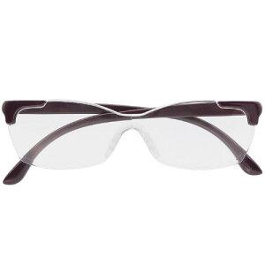 【15日ハ2個10%OFFクーポン】キングジム メガネ型拡大鏡 花柄 ムラサキ AM41拡大鏡 メガネ型 重ね掛けOK 収納袋付き ルーペ 洗える鼻パッド