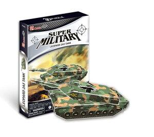 『3Dクラフト戦車 LEOPARD P630h』3D 立体パズル かんたん組立 ノリ・ハサミ・カッター不要『3Dクラフト戦車 LEOPARD P630h』3D 立体パズル かんたん組立 ノリ・ハサミ・カッター不要