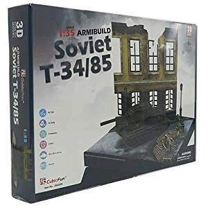 3Dクラフト SovietT34/85 JS4202h3D 立体パズル かんたん組立 ノリ・ハサミ・カッター不要 クリスマスや誕生日プレゼントとしても