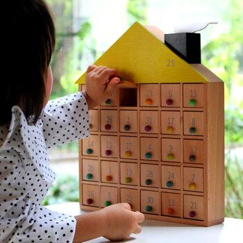 【送料無料&おまけ付】木製アドベントカレンダーgg*apartment31子供のクリスマスプレゼントに!出産祝い誕生日1歳2歳3歳女の子男の子