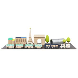 连kiko+(kiko)machi(machi)Bonpoint(bompowan)×kiko+PEKUKTRAIN(Paris町,市镇,马蒂)树的玩具一起智育玩具