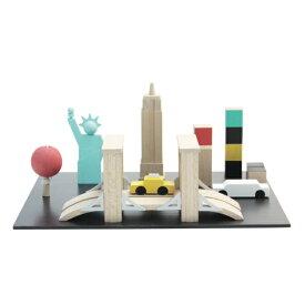 【送料無料】kiko+ (キコ) machi NY (まち ニューヨーク 町、街、マチ) 木のおもちゃ知育玩具 【子供 誕生日プレゼント 1歳 2歳 3歳 4歳 男の子 女の子】