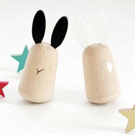 kiko+ usagi 起き上がりこぼしセット (うさぎ ウサギ) キコ kiko出産祝いやお誕生日プレゼントに!【子供 男の子 女の子 0歳 1歳 2歳】