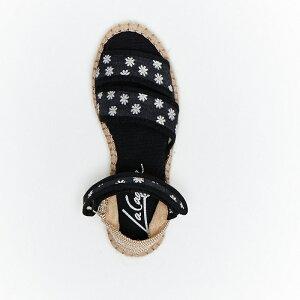 La Cadena/ラ カデナ SANDALIA TIRAS CIERRE flat sandals espadrilles キッズサンダル(花柄サンダル)サンダル キッズ ベビー 23〜30サイズ(14cm〜18.5cm) 人気 子供靴 オシャレ フォーマル ナチュラル カ