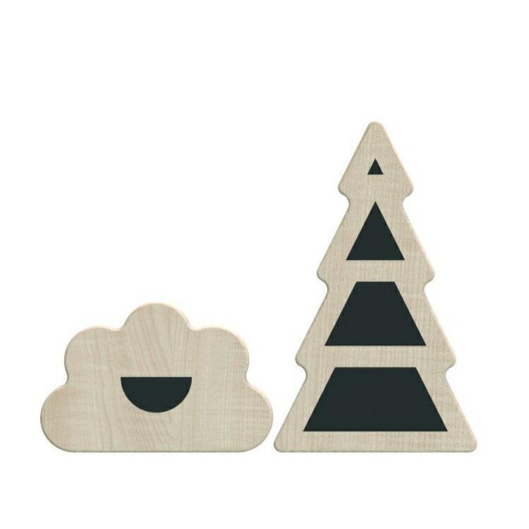 ooh noo(オーノー) Little Village 木製ブロック Garden 出産祝い・ギフトや誕生日プレゼントに人気!【子供 ベビー キッズ】【知育玩具 木製玩具】【木のおもちゃ】【プレゼント】【積み木】【インテリア 置き物】