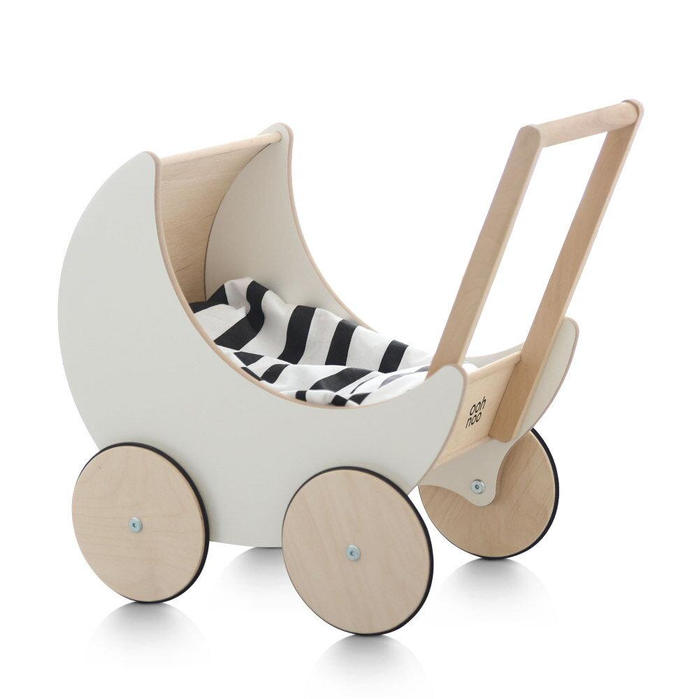 【送料無料】木製 手押し車 ooh noo Toy Pram出産祝い・ギフトや誕生日プレゼントに!【プルトイ 赤ちゃん ベビー 子供 カタカタ 知育玩具 木製玩具】【木のおもちゃ 1歳 2歳 3歳 女の子 男の子】