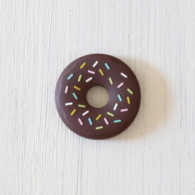 【DM便OK】nico(ニコ) teether チョコドーナツ歯固め【かわいい おしゃれ】【シリコン パーツ】【プチギフト 出産お祝い】