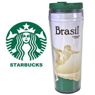 星巴剋星巴克 ☆ 不倒翁瓶廚房巴西巴西足球水壺全新冬季禮物禮物。