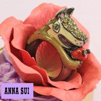 anasui ANNA SUI☆戒指環配飾狼狼沃爾夫蘋果蘋果蘋果水果水果線斯通珠寶名牌禮物禮物