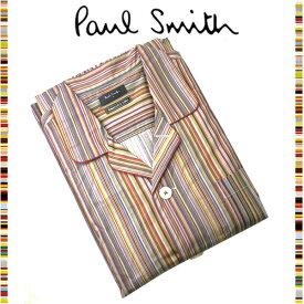 ポールスミス Paul Smith☆ファッション ナイトウェア パジャマ 夜 寝間着 おしゃれ マルチストライプ カラールームウェア 読書 メンズ ブラウン ウェア ブランド クリスマス ハロウィン バレンタイン