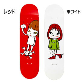 奈良美智(ならよしとも)Yoshitomo Nara☆スケートボード Girl on top of skull Skateboard Nara Green Dress Girl 赤 レッド 白 ホワイト アウトドア スケーター 壁掛け 現代アート 女の子 ブランド クリスマス ハロウィン バレンタイン