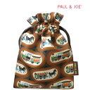 【メール便対象】ポール&ジョー PAUL&JOE☆ミニ巾着 ポーチ 小物入れ 馬 馬車 列車 ポールアンドジョー 化粧ポーチ か…