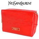 イヴ サンローラン Yves saint Laurent YSL☆ポーチ 小物入れ ロゴ 赤 レッド RED VIBES エナメル 化粧 メイク コスメ ブランド クリスマス ハロウィン バレンタイン