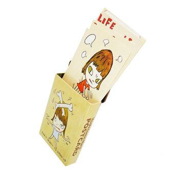 나라미지(라면 좋아라고도) Yoshitomo Nara☆우편 엽서 「PRINT WORKS」세트 뉴욕 스티커캔브랜드 크리스마스 Xmas 섣달그믐 동 선물 기프트