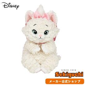 【メーカー直販】ディズニー あそんで!マリー ぬいぐるみ Disney おしゃれキャット マリーちゃん グッズ 猫 ネコ ねこ リボン ピンク セキグチ
