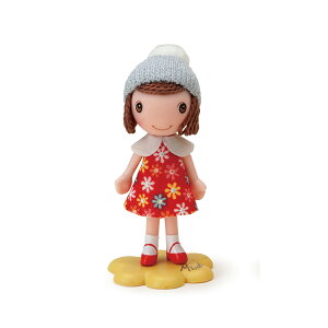 Minette お花ワンピース あかミネット ミニチュアドール 人形 ドールハウス 萩原まさえ 花柄 マスコット フィギュア 置物 インテリア ジオラマ