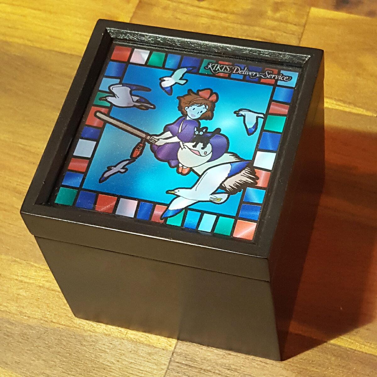 【スタジオジブリ作品】ステンドグラス風BOXオルゴール魔女の宅急便