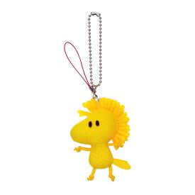 ネコポス可★ ちーちーキーチェーンマスコット ウッドストックスヌーピー グッズ 雑貨 キーホルダー 黄色 鳥