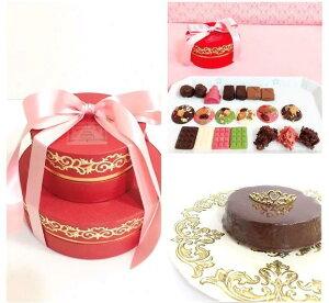 高級シャンパンボンボンショコラ2段 スイーツギフトBOX 高級チョコレート トリュフ 生ザッハトルテ バレンタイン ホワイトデー お祝 ホームパーティー プレゼント モンショコ