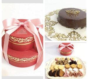 高級ショコラ・サブレ詰め合わせ 2段ギフト 手土産 スイーツBOX 高級 プレミアム本物チョコレート 上質バター クッキー詰め合わせ プレゼント 生ザッハトルテ 焼き菓子 チョ