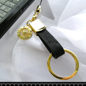 【Monchua】天国の階段 ペンダントデザイン携帯ストラップ ベルト リングストラップ シルバー/ゴールド 2カラー