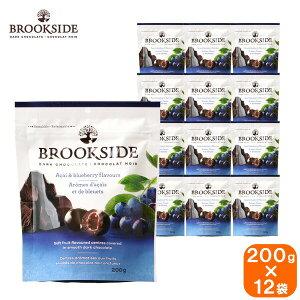 【12袋セット】brook side ブルックサイド acai&blueberry ダークチョコレート アサイー&ブルーベリー 200g×12