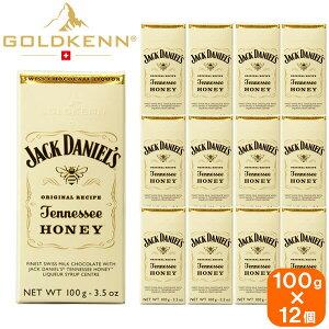 【12個セット】goldkenn jack daniel's jennessee honey ゴールドケン ジャックダニエル テネシーハニー チョコレート 100g×12