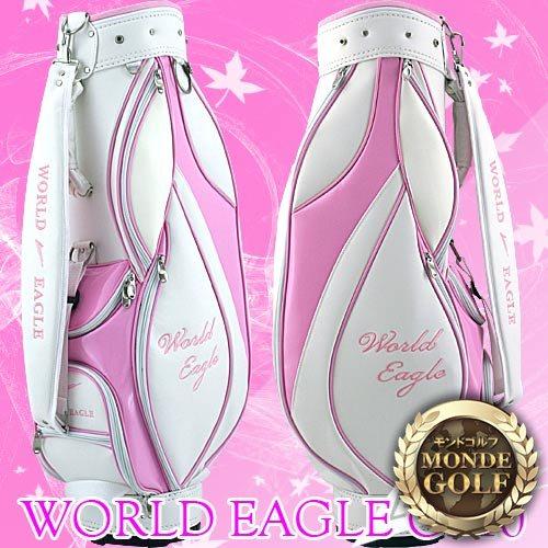 ワールドイーグル G510 レディース キャディバッグ 【ホワイト/ピンク】【ワールドイーグル】【ポイント2倍】【最安値に挑戦】【あす楽】